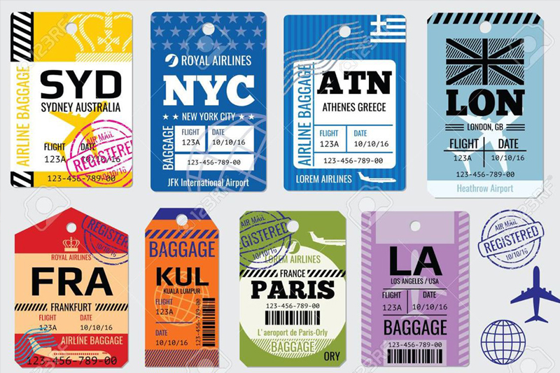 airline baggage labels